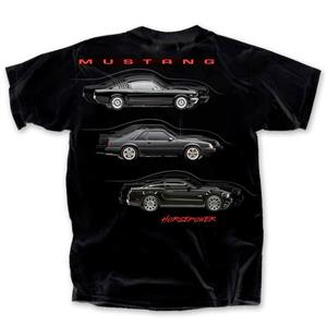 Ford Mustang Horespower T-Shirt Black LARGE