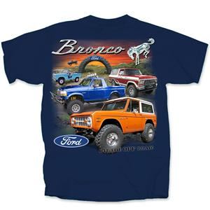 Ford Broncos 1966-96 T-Shirt Blue 3X-LARGE