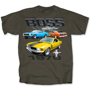 Mustang 1970 You Know Who's Boss T-Shirt Grey 2X-LARGE