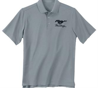 Ford Mustang Embroidered Polo Shirt Grey LARGE