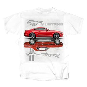 Mirrored Mustangs T-Shirt White X-LARGE