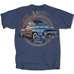 Haul American - Ford Truck T-Shirt Blue 2X-LARGE