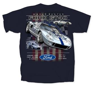 Ford GT40 World Beater 2 T-Shirt Navy 3X-LARGE