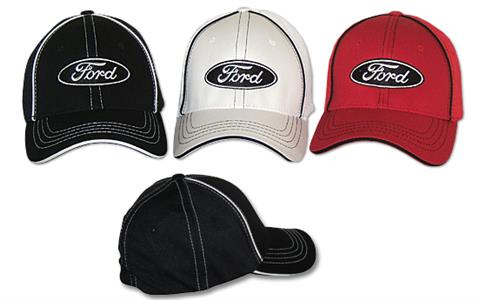 Ford Logo Flex Cap Red Small/Medium