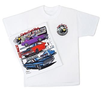 Dodge Scat Pack Boulevard T-Shirt White SMALL