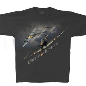 Battle Of Britain T-Shirt Charcoal 2X-LARGE