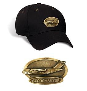 C-17 Globemaster Brass Badge Cap Black
