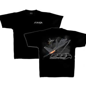 F-22 Raptor T-Shirt Black 2X-LARGE