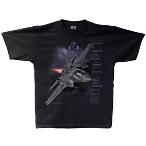F-35 Lightning II T-Shirt Black 2X-LARGE