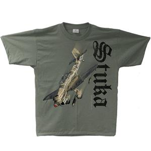 Junkers Ju-87 Stuka T-Shirt Green MEDIUM