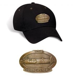 Avro Lancaster Brass Badge Cap Black