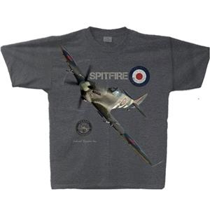 Spitfire Mk IX T-Shirt Grey MEDIUM
