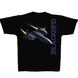 Lockheed SR-71 Blackbird T-Shirt Black 2X-LARGE