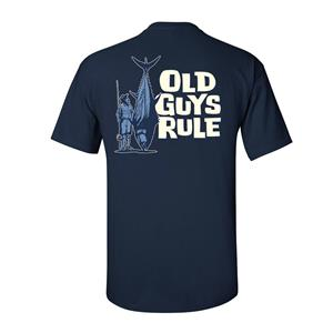 Old Guys Rule - Size Matters T-Shirt Blue LARGE