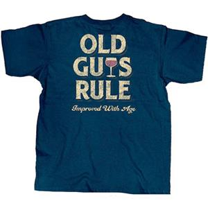 Old Guys Rule - Improved With Age T-Shirt Blue 3X-LARGE DAMAGED