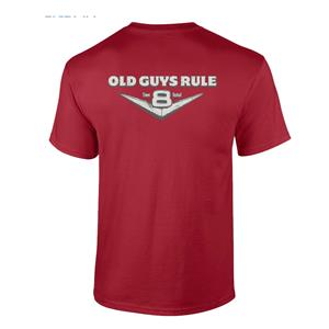 Old Guys Rule - Time Tested V8 T-Shirt Red X-LARGE