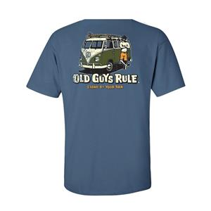 Old Guys Rule - Stand By Your Van T-Shirt Light Blue MEDIUM