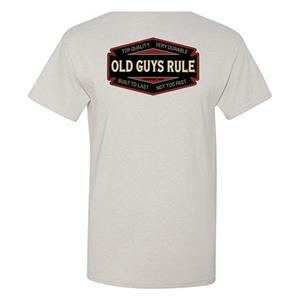 Old Guys Rule - Top Quality, Built To Last T-Shirt Grey LARGE