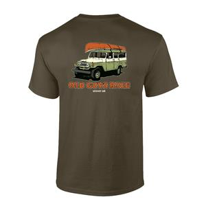Old Guys Rule - Getaway Car T-Shirt Olive 2X-LARGE