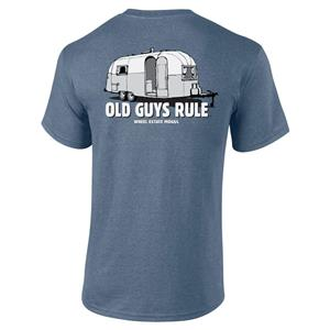 Old Guys Rule - Wheel Estate Mogul T-Shirt Blue X-LARGE