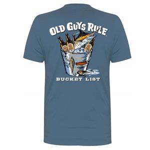 Old Guys Rule - Bucket List T-Shirt Blue 2X-LARGE