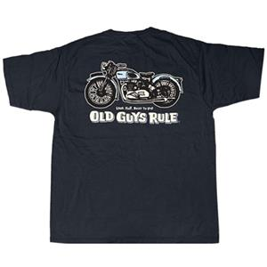 Old Guys Rule - Triumph Loud Fast Built To Last T-Shirt Black LARGE