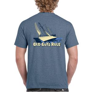 Old Guys Rule - Sailing Through Life T-Shirt Blue LARGE