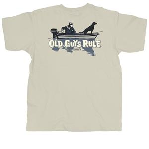 Old Guys Rule - Fish Finder T-Shirt Stone X-Large