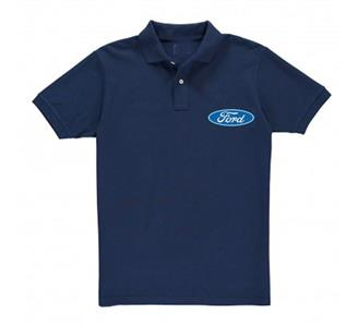 Ford Blue Oval Polo Shirt Dark Blue LARGE