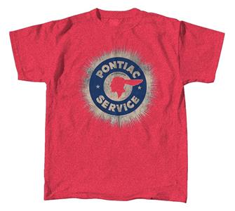 Pontiac Service Sign T-Shirt Red SMALL