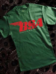 BSA T-Shirt Red Logo on Green 3X-LARGE