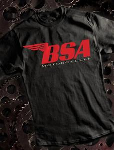 BSA T-Shirt Red Logo on Black 3X-LARGE
