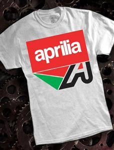 Aprilia T-Shirt Ash Grey 2X-LARGE