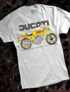 Ducati 900SS T-Shirt Ash Grey MEDIUM
