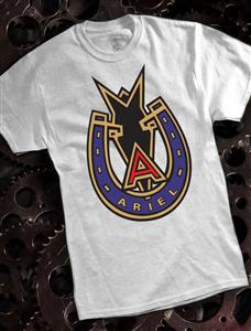 Ariel Badge T-Shirt Ash Grey LARGE