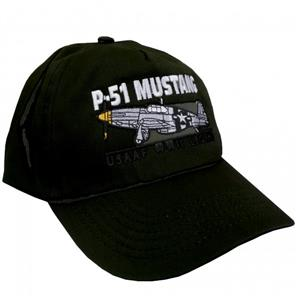 P-51 Mustang USAAF WWII Legend Cap Black