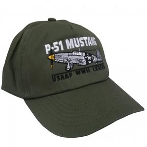 P-51 Mustang USAAF WWII Legend Cap Olive Green