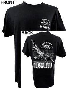 De Havilland DH.98 Mosquito British Legend Action T-Shirt Black MEDIUM