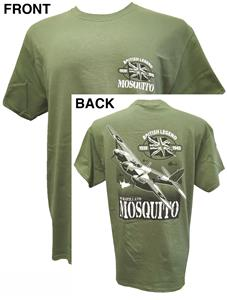De Havilland DH.98 Mosquito British Legend Action T-Shirt Olive Green SMALL