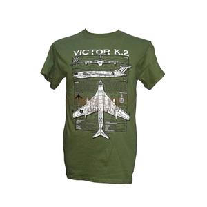 Handley Page Victor K2 Blueprint Design T-Shirt Olive Green X-LARGE
