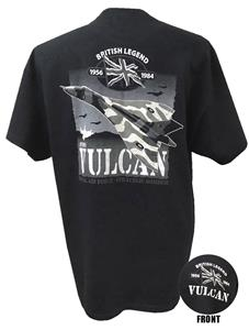Avro Vulcan British Legend Action T-Shirt Black 3X-LARGE